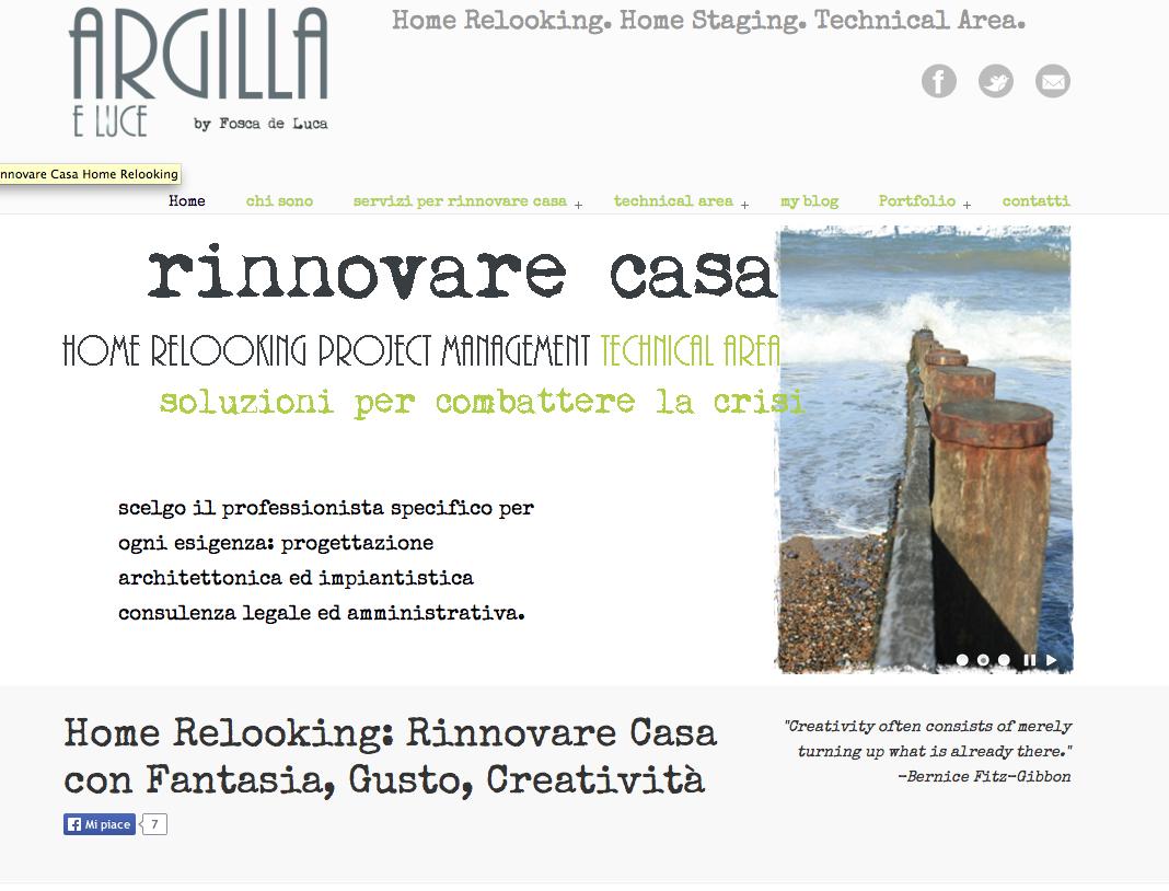 """Rinnovarecasa.net"" sito in evidenza"